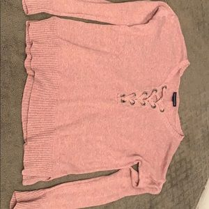 Pink knit American Eagle sweater
